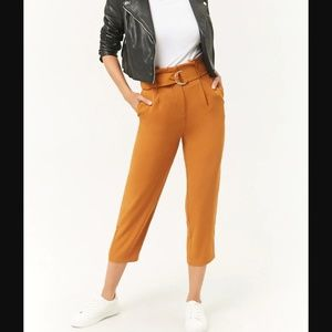 Forever 21 Belted Paperbag High Waist Pants
